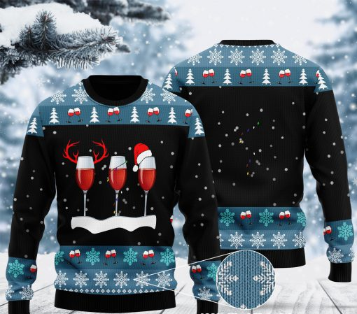 merry christmas with red wine ugly christmas sweater 2 - Copy