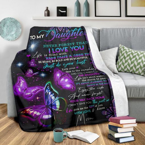 night butterfly to my daughter never forget that i love blanket 2