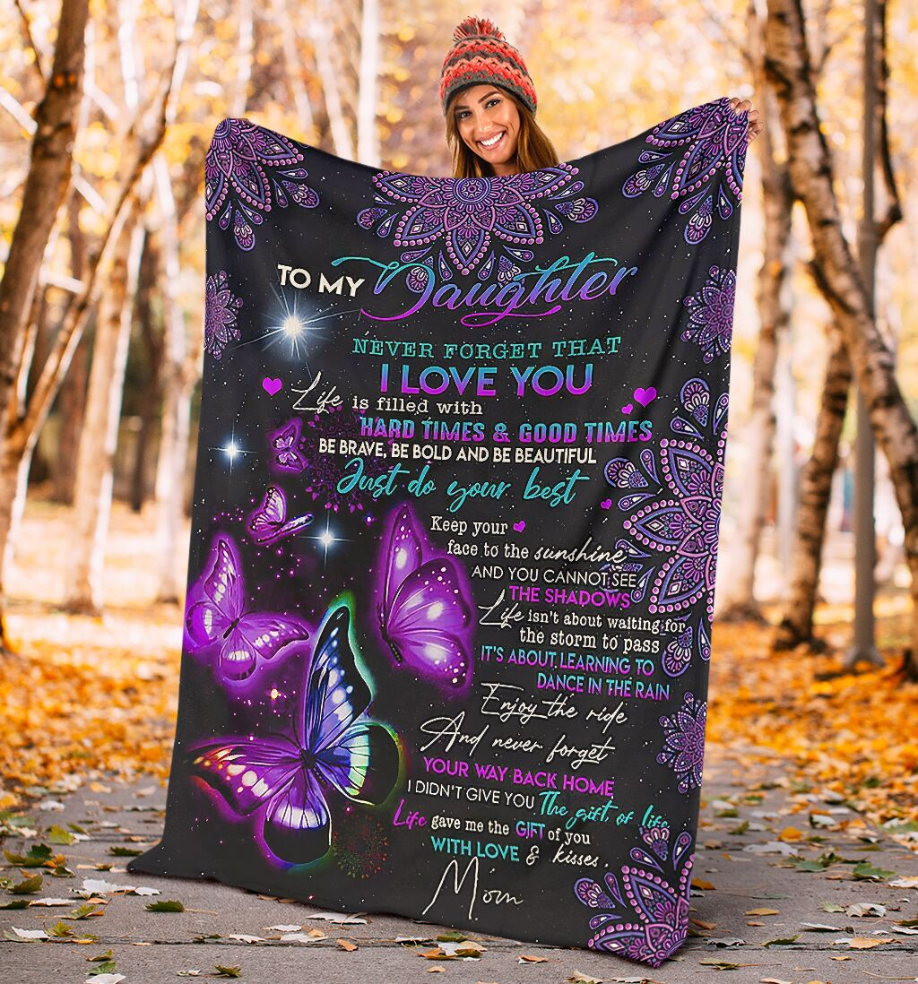 night butterfly to my daughter never forget that i love blanket 3