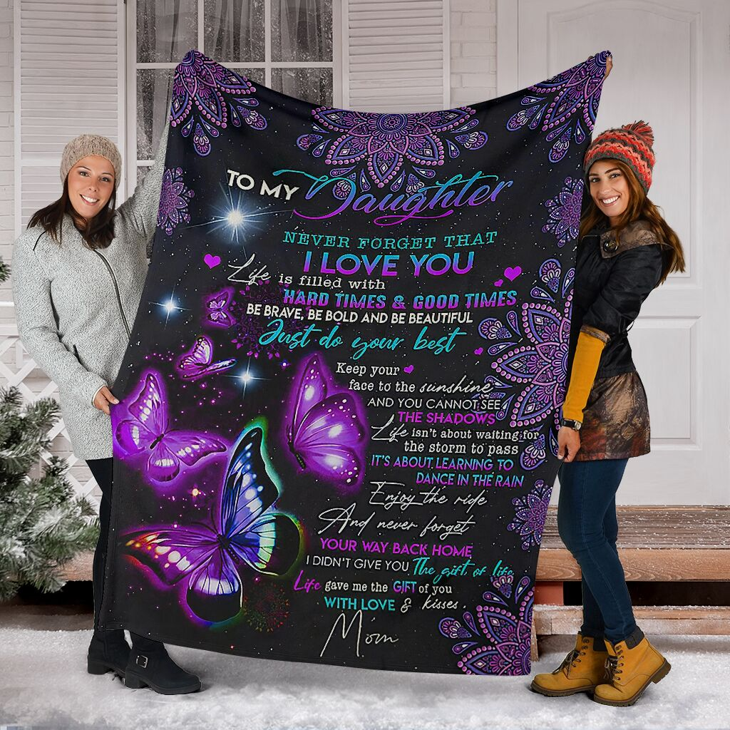 night butterfly to my daughter never forget that i love blanket 4