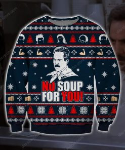 no soup for you the soup nazi ugly christmas sweater 2