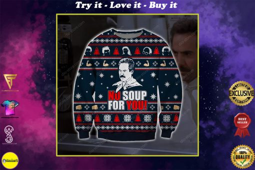 no soup for you the soup nazi ugly christmas sweater