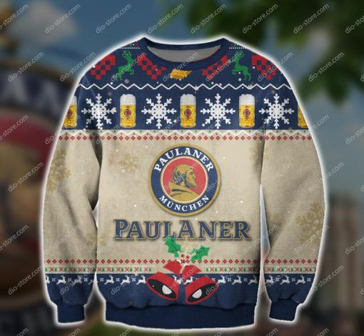 paulaner munchen beer all over print ugly christmas sweater 2