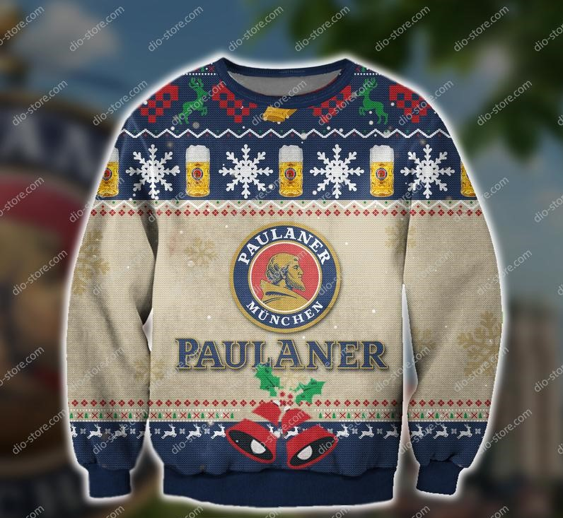 paulaner munchen beer all over print ugly christmas sweater 2 - Copy