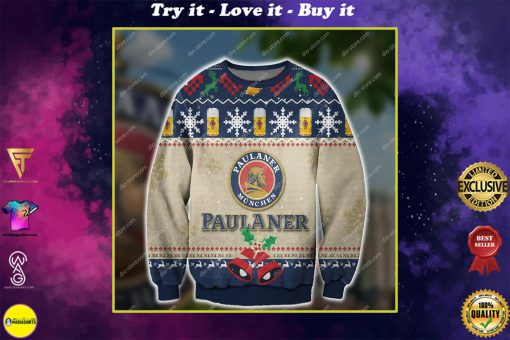 paulaner munchen beer all over print ugly christmas sweater