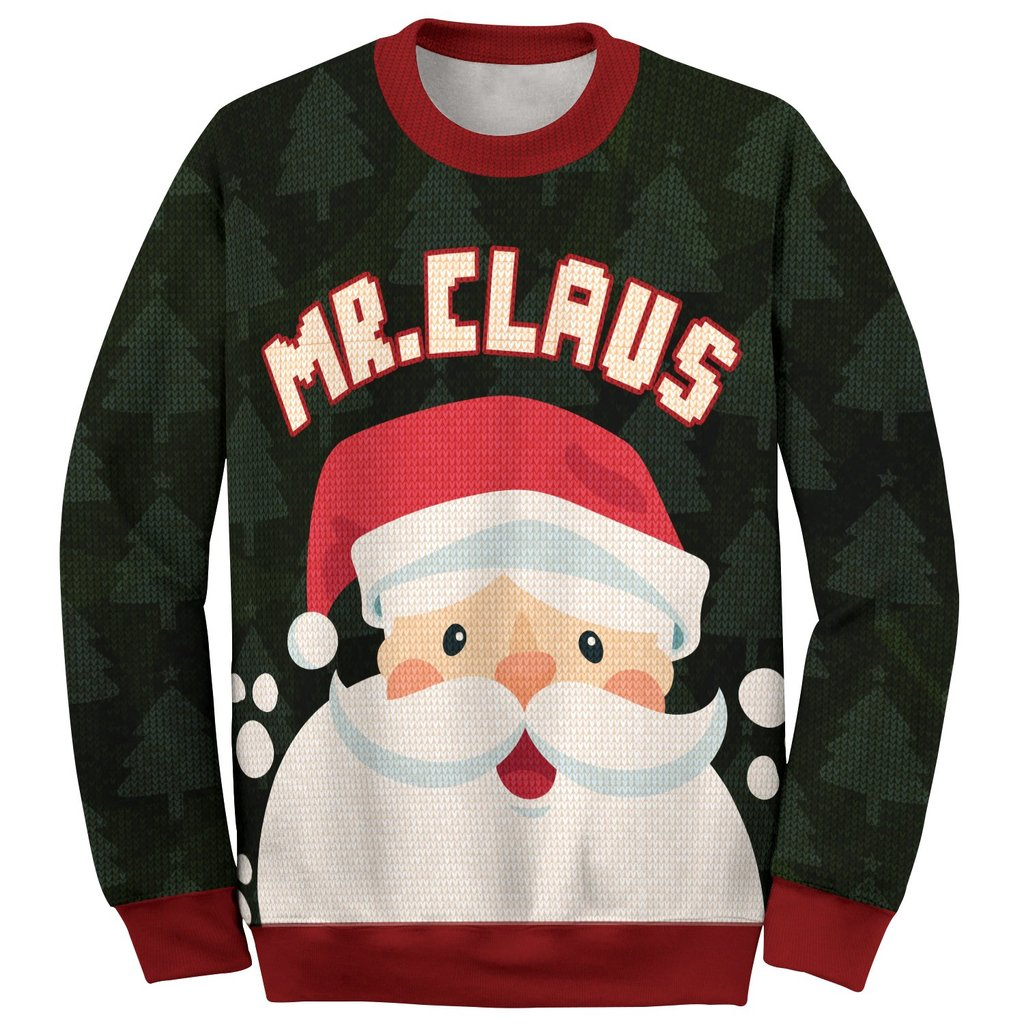 santa mr claus and mrs claus love couple ugly christmas sweater 2