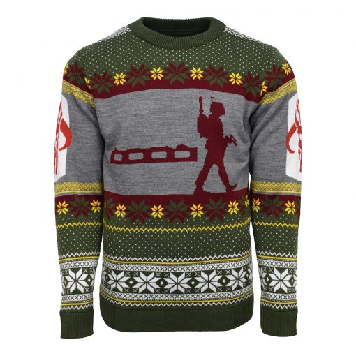 star wars boba fett nordic all over printed ugly christmas sweater 3