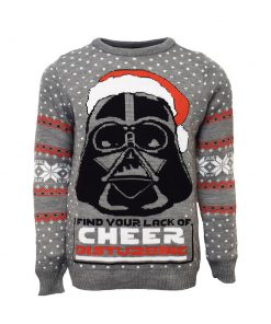 star wars darth vader all over printed ugly christmas sweater 3
