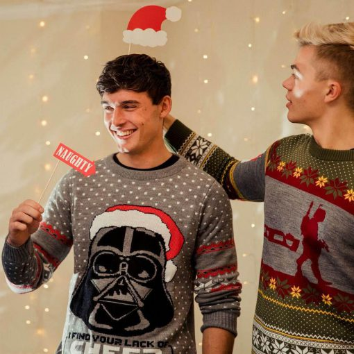 star wars darth vader all over printed ugly christmas sweater 4