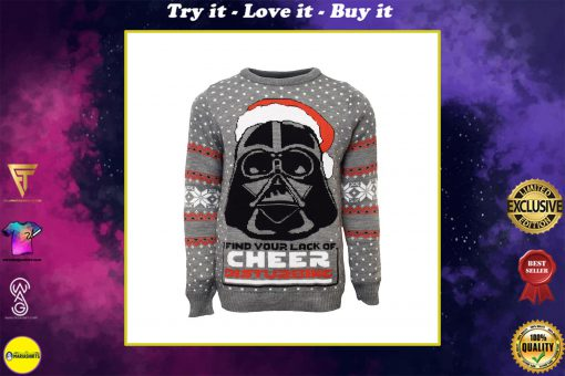 star wars darth vader all over printed ugly christmas sweater