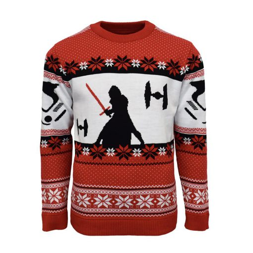 star wars kylo ren all over printed ugly christmas sweater 5