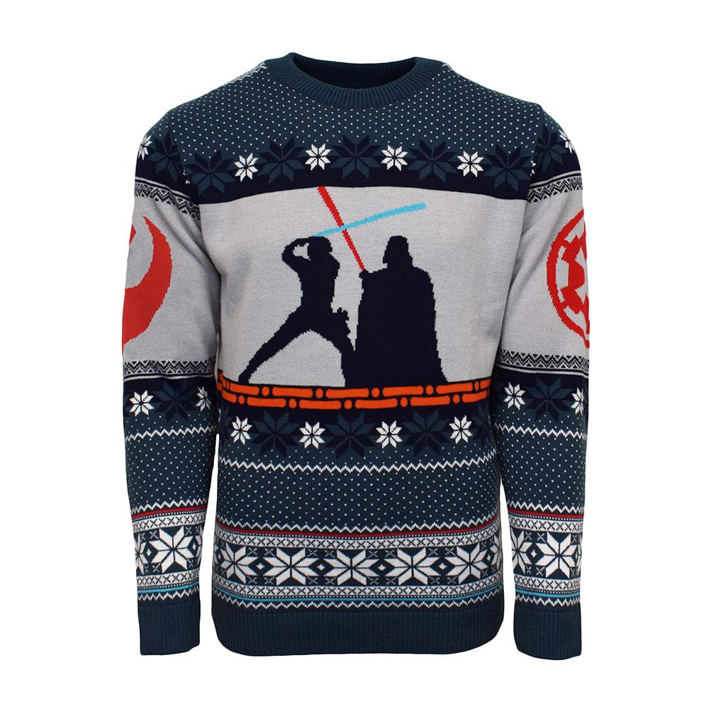 star wars luke vs darth vader all over printed ugly christmas sweater 2