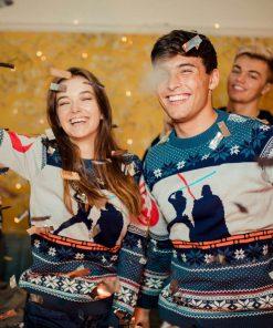 star wars luke vs darth vader all over printed ugly christmas sweater 4