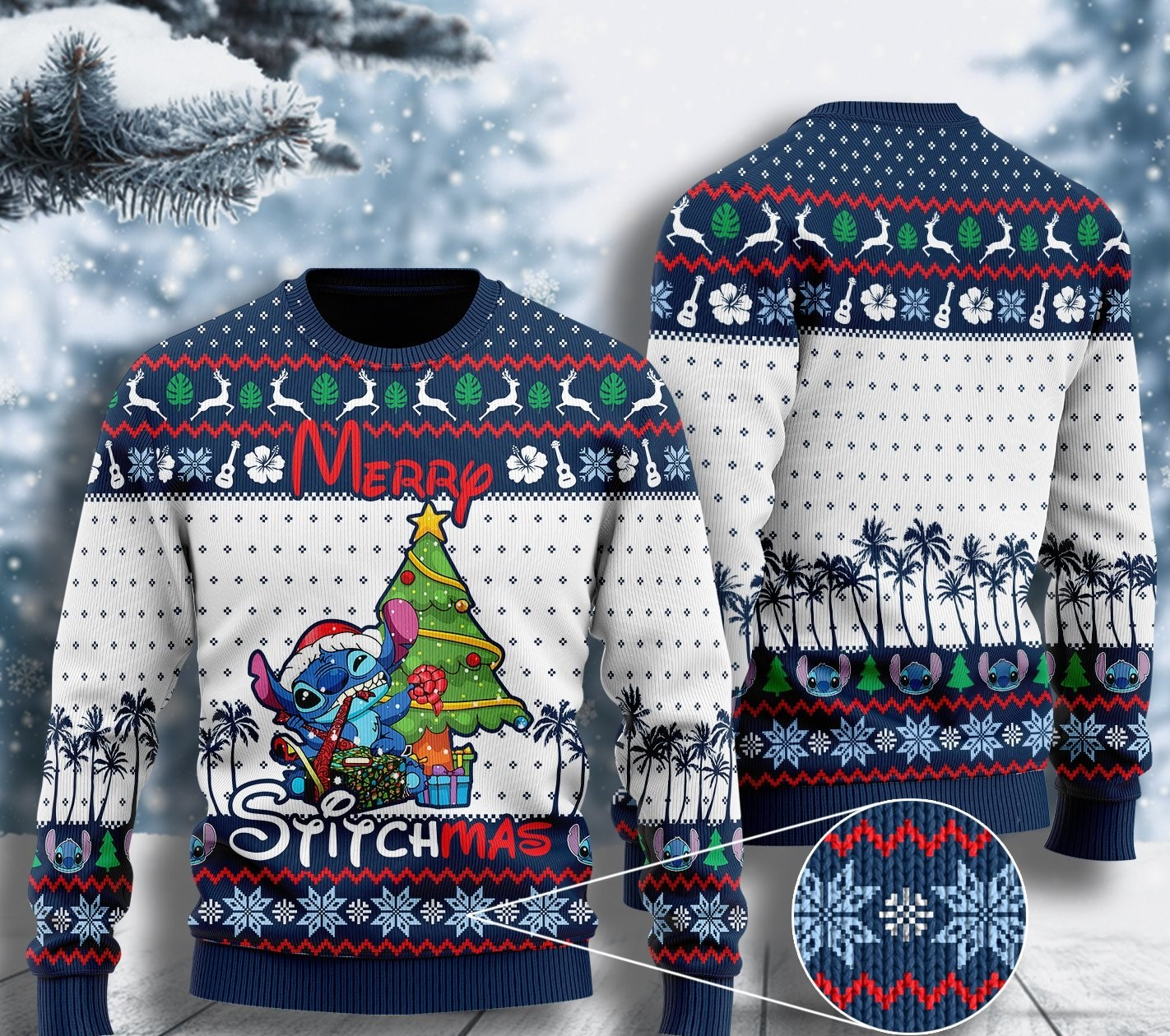 stitch lover merry Stitchmas ugly christmas sweater 2