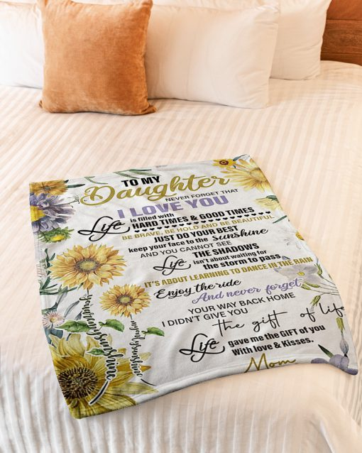 sunflower to my daughter never forget that i love you full printing blanket 3