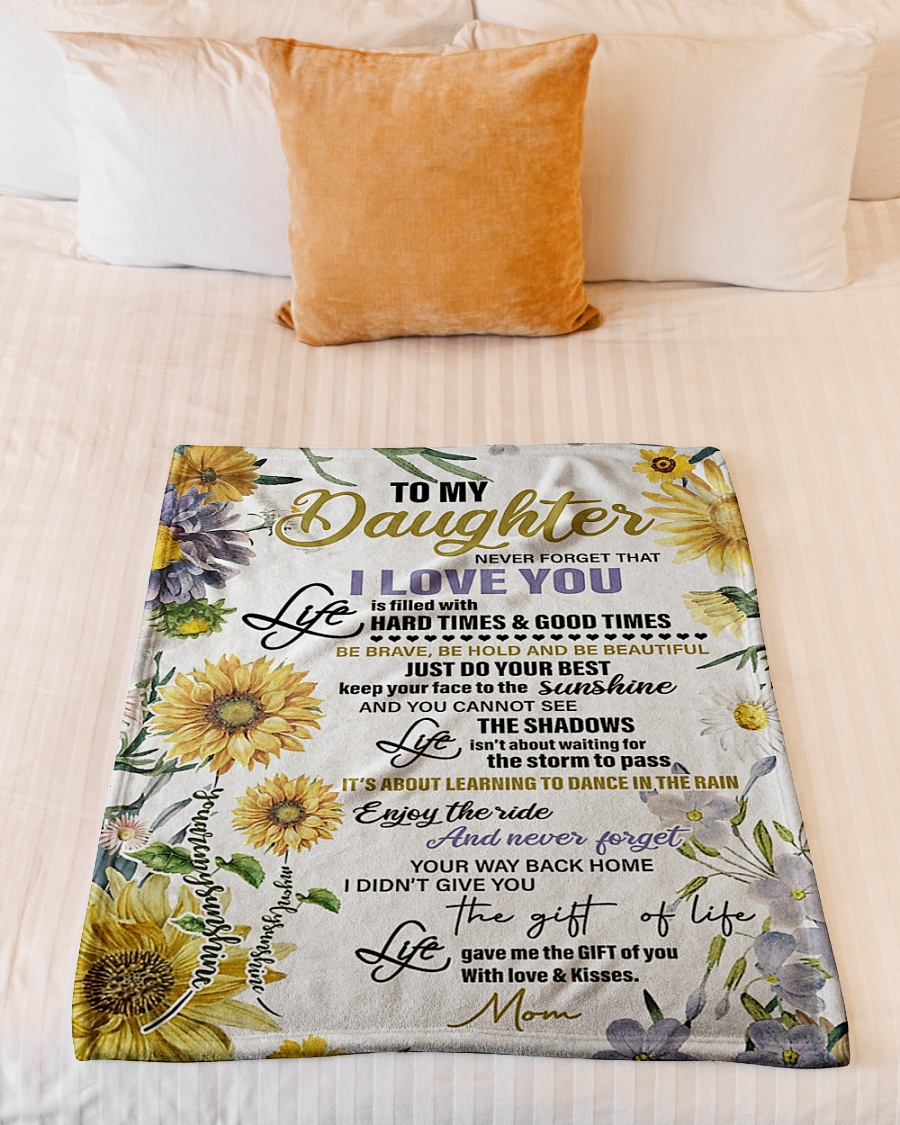 sunflower to my daughter never forget that i love you full printing blanket 4