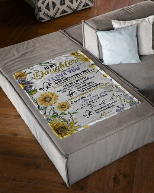 sunflower to my daughter never forget that i love you full printing blanket 5
