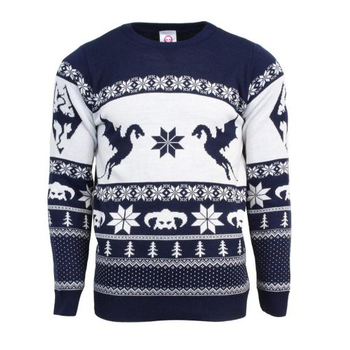 the elder scrolls v skyrim all over printed ugly christmas sweater 2
