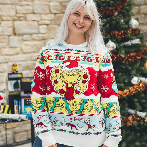 the grinch all over printed ugly christmas sweater 3