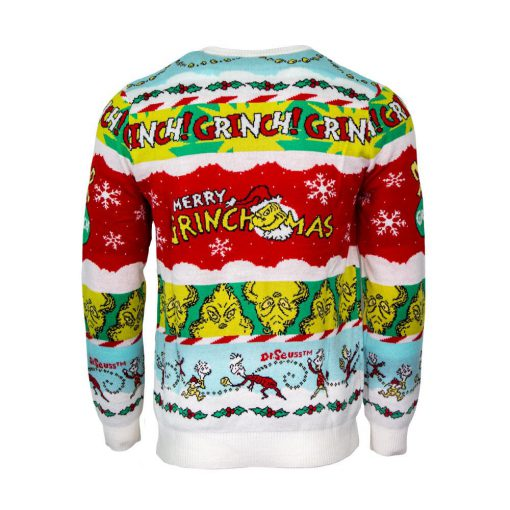 the grinch all over printed ugly christmas sweater 4