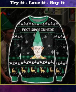 the office dwight fact xmas is here all over printed ugly christmas sweater
