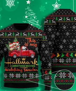 this is my hallmark christmas movie watching all over printed ugly christmas sweater 2