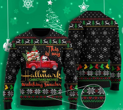this is my hallmark christmas movie watching all over printed ugly christmas sweater 2 - Copy (3)