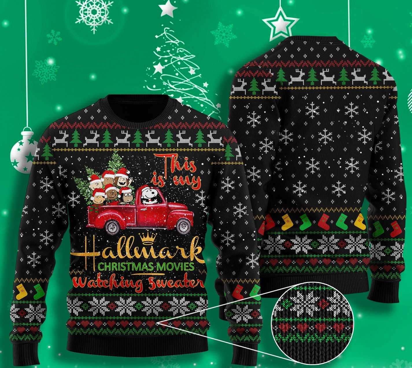 this is my hallmark christmas movie watching all over printed ugly christmas sweater 2 - Copy