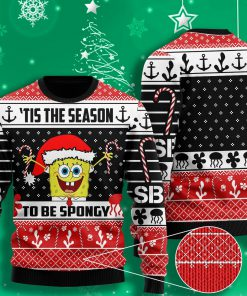 til the season to be spongy spongebob all over printed ugly christmas sweater 2 - Copy