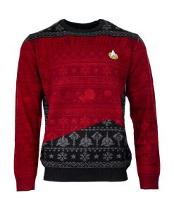 trek the halls all over printed ugly christmas sweater 2