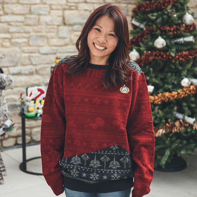trek the halls all over printed ugly christmas sweater 3