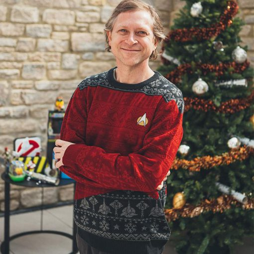 trek the halls all over printed ugly christmas sweater 4