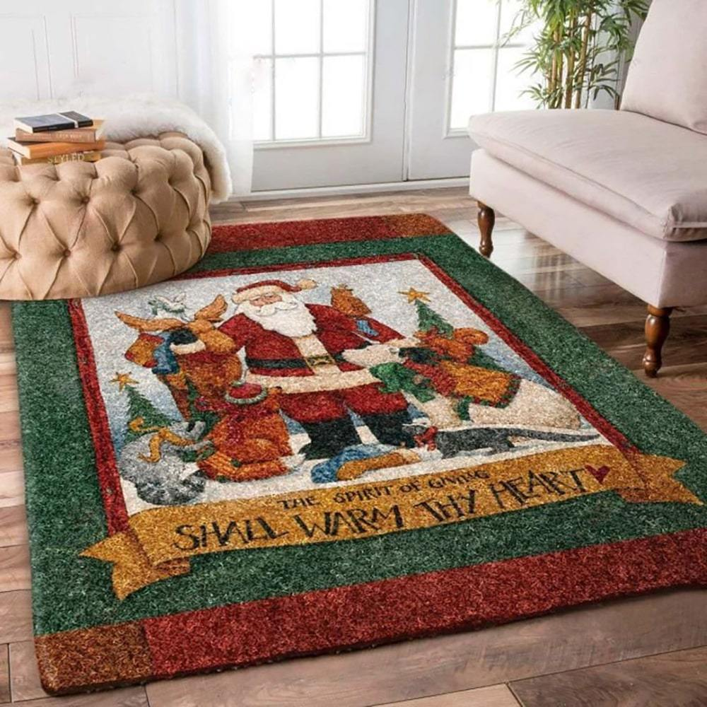 vintage christmas time santa claus full printing vintage christmas time santa claus full printing rug 2