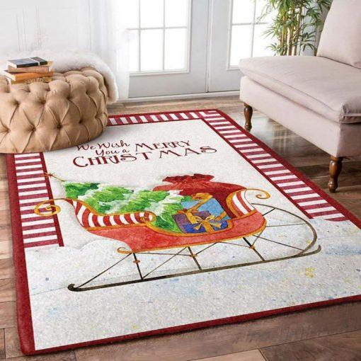 we wish you a merry christmas full printing rug 5