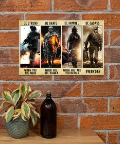 be strong be brave be humble be badass marine veteran poster 3