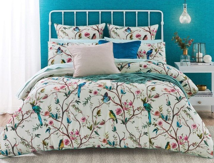 birds on the tree all over printed bedding set 4