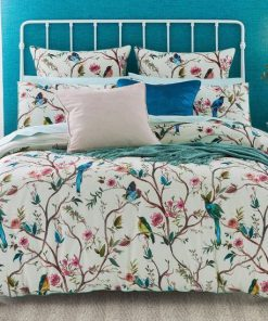 birds on the tree all over printed bedding set 5