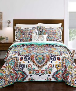 bohemian symbols colorful all over printed bedding set 4