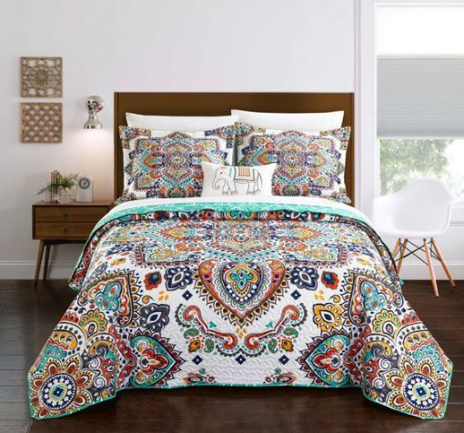 bohemian symbols colorful all over printed bedding set 5