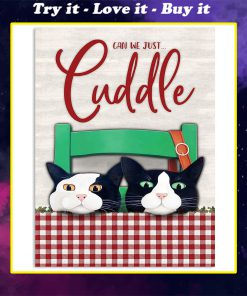 can we just cuddle cat vintage poster