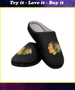 chicago blackhawks nhl full over printed slippers