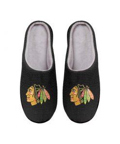 chicago blackhawks nhl full over printed slippers 4