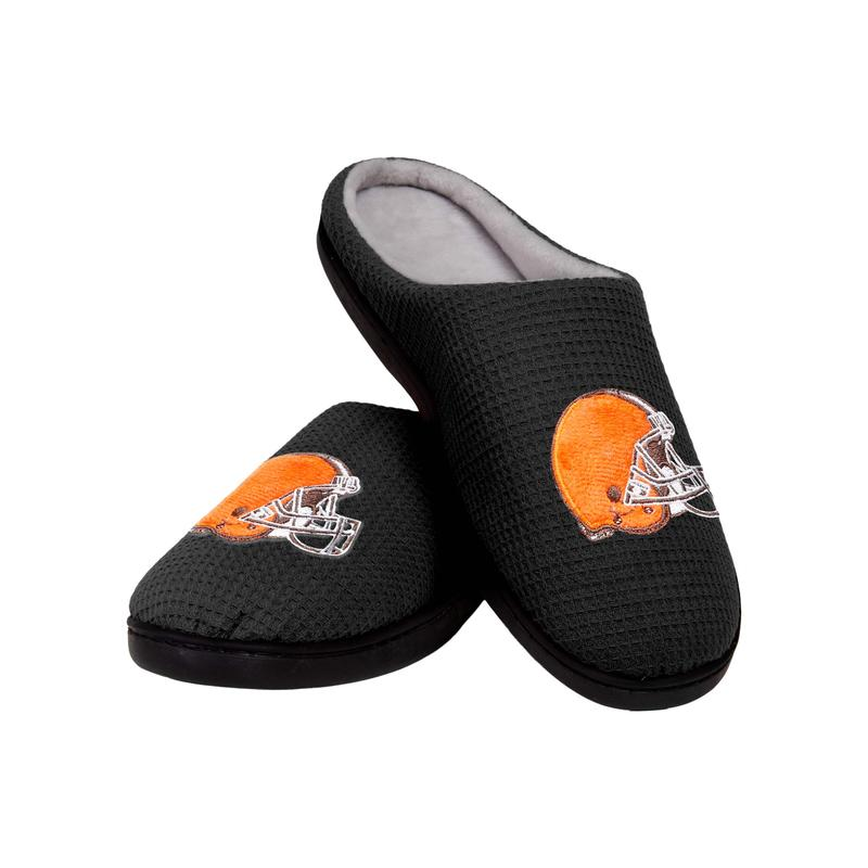 cleveland browns football full over printed slippers 2