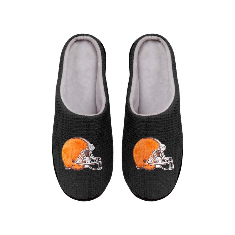 cleveland browns football full over printed slippers 4