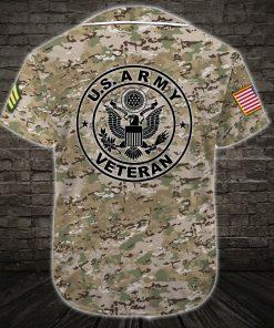 custom name army veteran green camo all over printed baseball shirt 5