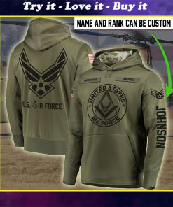 custom name united states air force all over printed shirt