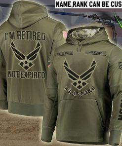 custom name united states air force im retired not expired full printing shirt 2