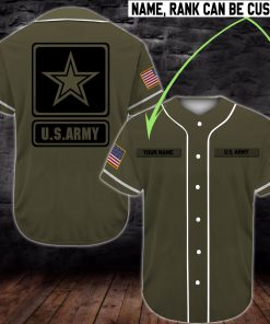custom name united states army full printing baseball shirt 2