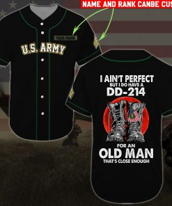 custom name united states army i aint perfect but i do have a dd 214 baseball shirt 2