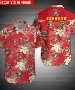 custom name united states marine corps hawaiian shirt 3
